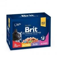 Brit Premium Cat Family Plate 12 x 100 g