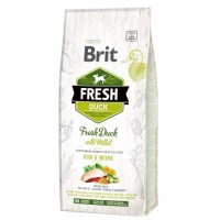 Brit Fresh Duck Millet Adult Run Work 12 kg