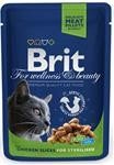 Brit Premium Cat kaps. -Chicken Slices for Steril. 100 g