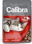 Calibra Cat kaps.- kuřecí a hovězí v omáčce 100 g