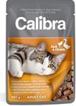 Calibra Cat kaps.- kachní a kuřecí v omáčce 100 g