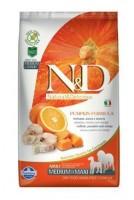 N&D Grain Free Pumpkin DOG Adult M/L Codfish & Orange 2,5 kg