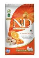 N&D Grain Free Pumpkin DOG Adult Mini Codfish & Orange 2,5 kg