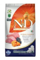 N&D Grain Free Pumpkin DOG Puppy M/L Lamb & Blueberry 12 kg